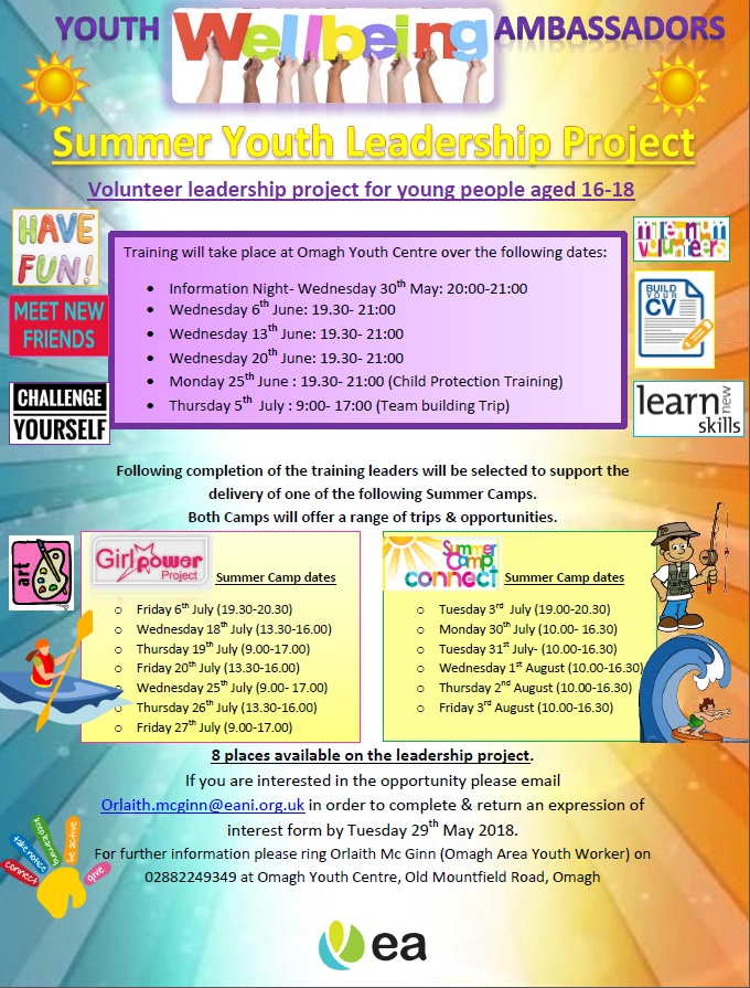 YOUTH WELLBEING AMBASSADOR OPPORTUNITY