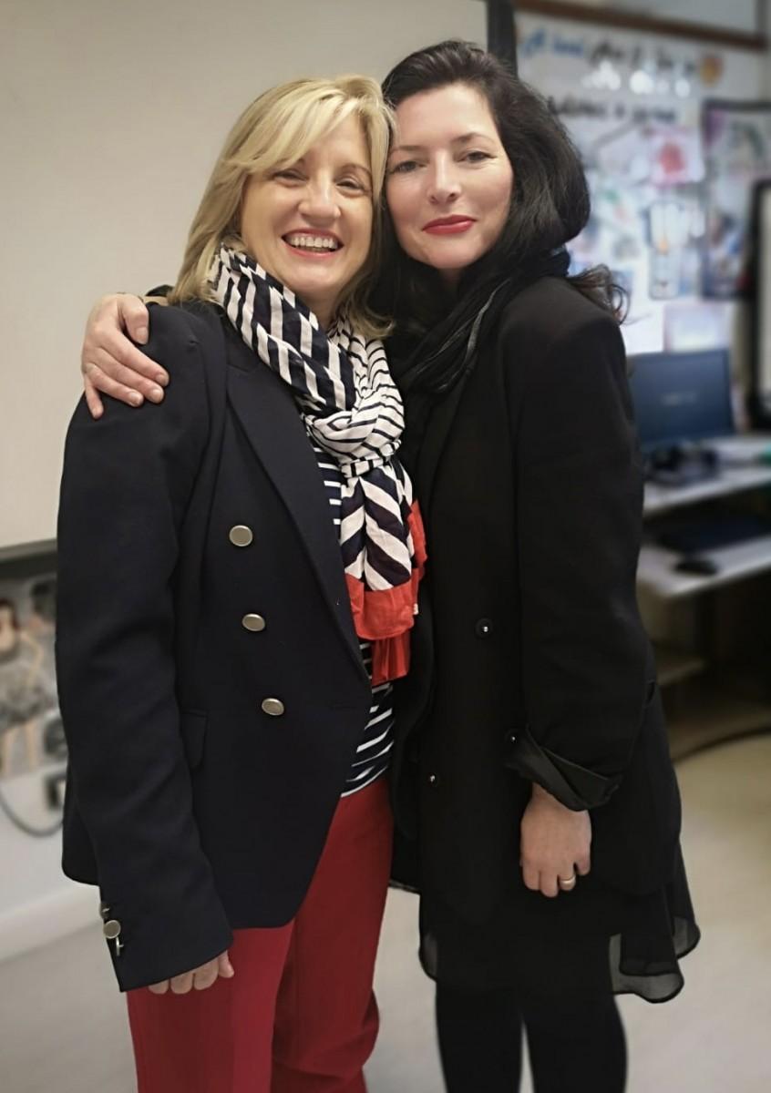International Fashion Stylist, Caroline Baxter, Visits Art & Design Department